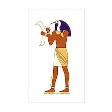 Egyptian God Thoth Rectangle Decal