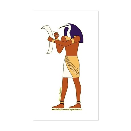 Egyptian God Thoth Rectangle Sticker
