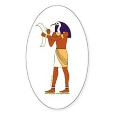 Egyptian God Thoth Oval Decal