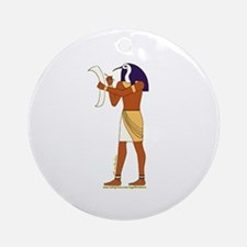 Egyptian God Thoth Ornament (Round)