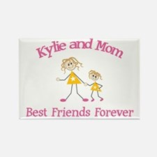 Kylie and Mom - Best Friends Rectangle Magnet