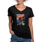 6th War Loan Women's V-Neck Dark T-Shirt