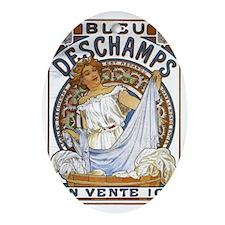 Cute Bleu Oval Ornament