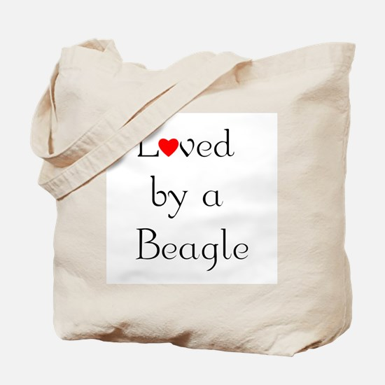 Loved by a Beagle Tote Bag
