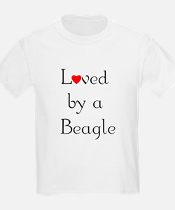 Loved by a Beagle Kids T-Shirt