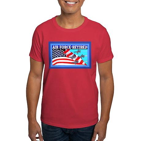 Dark T-Shirt-AIR FORCE-RETIRED-Jets