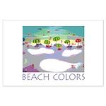 Beach Colors Seashore Large Poster