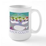 Beach Colors Seashore Large Mug