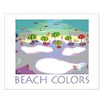 Beach Colors Seashore Small Poster