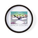 Beach Colors Seashore Wall Clock