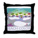 Beach Colors Seashore Throw Pillow