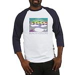 Beach Colors Seashore Baseball Jersey