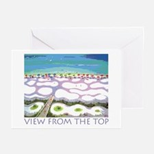 Beach View from the Top Greeting Cards (Pk of 10)