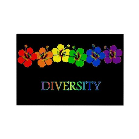 Hibiscus Diversity Rectangle Magnet (10 pack)