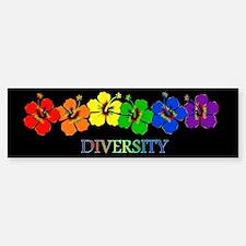 Hibiscus Diversity Bumper Bumper Bumper Sticker
