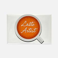 Latte Artist Barista Rectangle Magnet