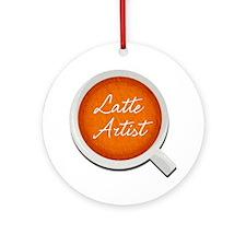 Latte Artist Barista Ornament (Round)