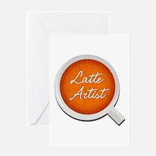 Latte Artist Barista Greeting Card