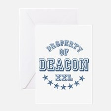 Property of Deacon Personalized Greeting Card