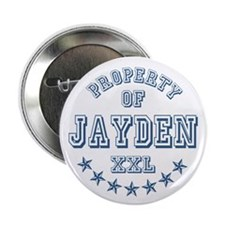 """Property of Jayden Personalized 2.25"""" Button"""