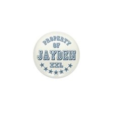 Property of Jayden Personalized Mini Button (10 pa