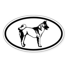 Akita Dog Oval Decal