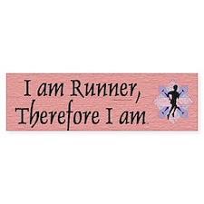 I Am Runner Bumper Sticker