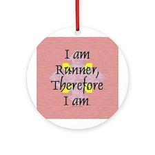 I Am Runner Ornament (Round)