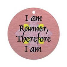 TOP I Am Runner Ornament (Round)