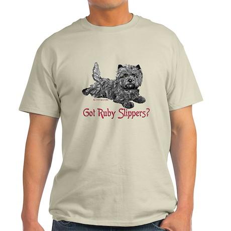Cairn Terrier Ruby Slippers Light T-Shirt