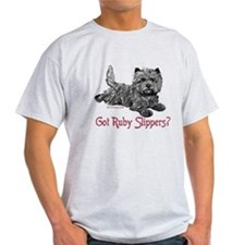 Cairn Terrier Ruby Slippers T-Shirt
