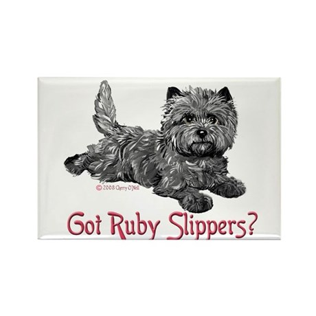 Cairn Terrier Ruby Slippers Rectangle Magnet (100