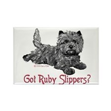 Cairn Terrier Ruby Slippers Rectangle Magnet