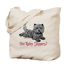 Cairn Terrier Ruby Slippers Tote Bag