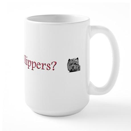 Cairn Terrier Ruby Slippers Large Mug