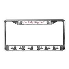 Cairn Terrier Ruby Slippers License Plate Frame