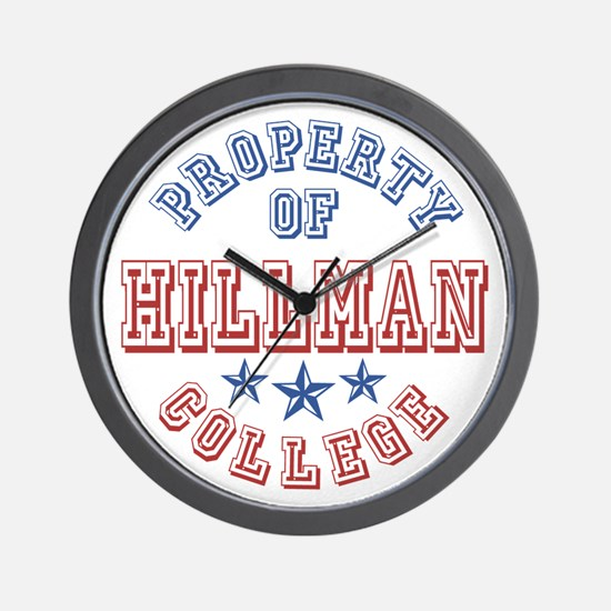 Hillman College Property Of Wall Clock