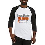 Leukemia Cure Baseball Jersey
