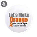 """Leukemia Cure 3.5"""" Button (10 pack)"""