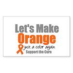 Leukemia Cure Rectangle Sticker 10 pk)