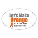 Leukemia Cure Oval Sticker (10 pk)