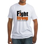 Fight Strong (Leukemia) Fitted T-Shirt