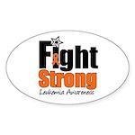 Fight Strong (Leukemia) Oval Sticker (10 pk)