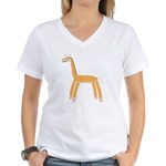 Giraffe Women's V-Neck T-Shirt