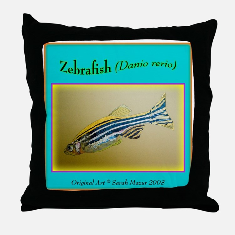 Zebrafish Throw Pillow