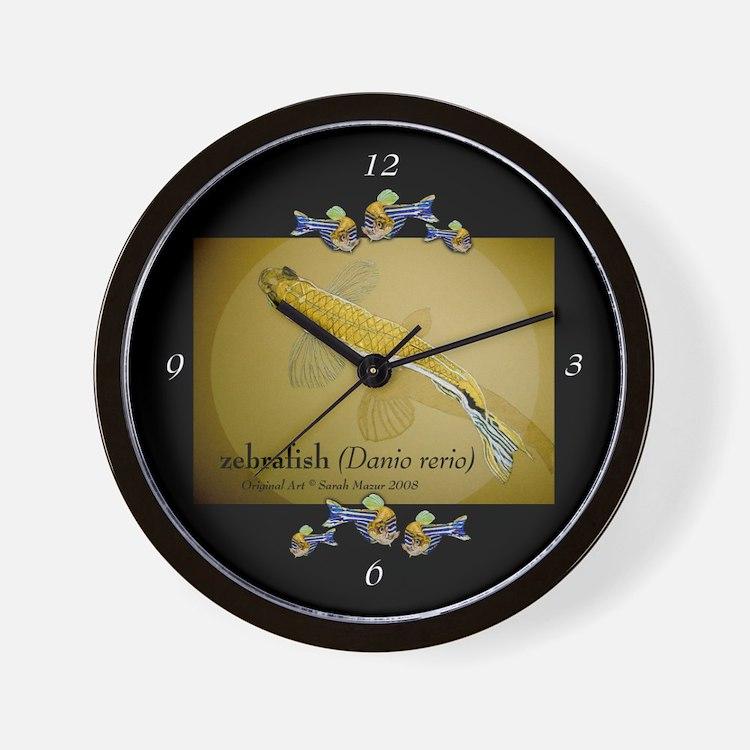 Zebrafish Wall Clock