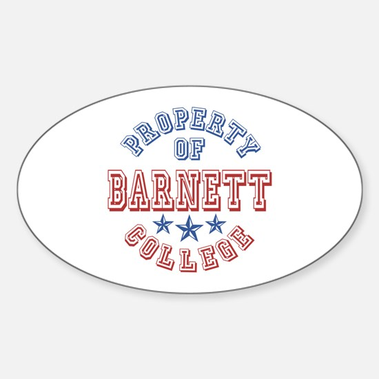 Barnett College Property Of Oval Decal