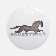 Horse Equestrian Ornament (Round)