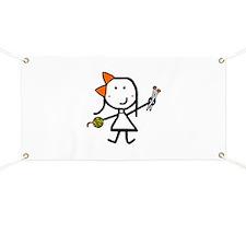 Girl & Knitting Banner