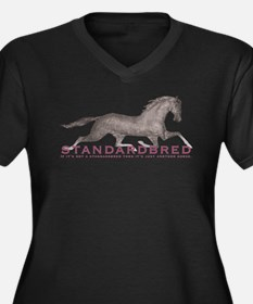 Standardbred Horse Women's Plus Size V-Neck Dark T
